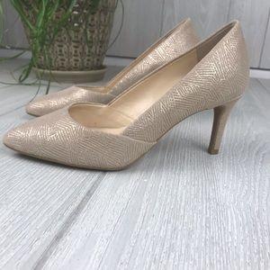 Alex Marie nude shimmer heels pumps